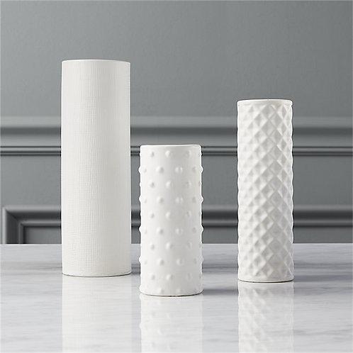 Modern White Vase Set