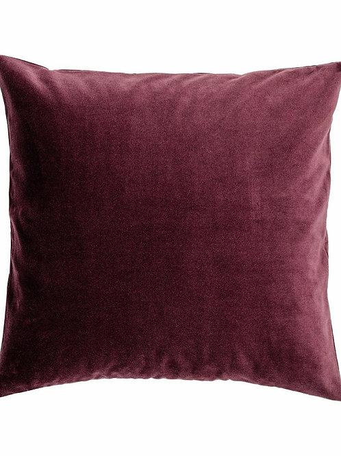 Burgundy Velvet Pillow