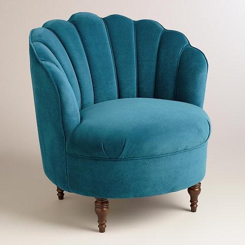 Royal Blue Velvet Side Chair