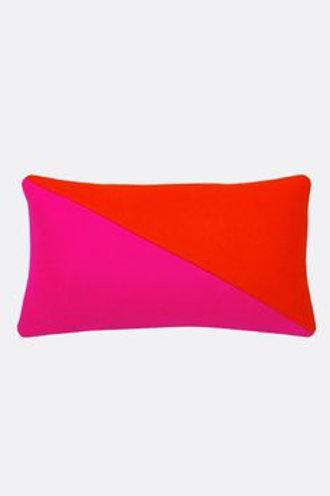 Wool Color Block Bolster Pillow
