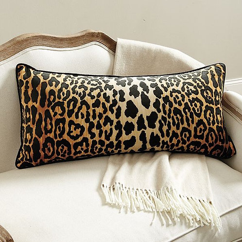 Velvet Cheetah Lumbar Pillow