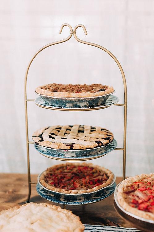 Three-Tier Display w/ Vintage Plates
