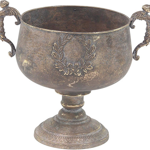 Tarnished Brass Urn