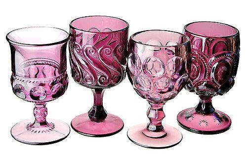 Vintage Amethyst Goblets