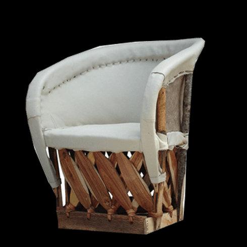White Equipale Cushion Chair