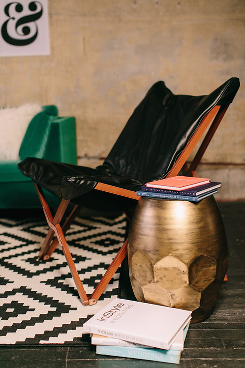 Modern Butterfly Chair w/ Wooden Base