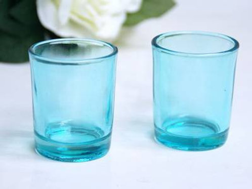 Aqua Votive Candle Holder