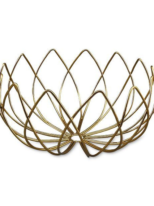 Brushed Gold Bread Basket