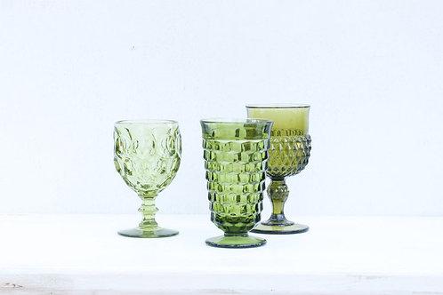 Vintage Green Goblet