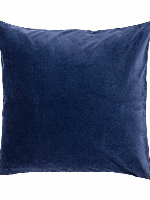 Navy Blue Velvet Pillow