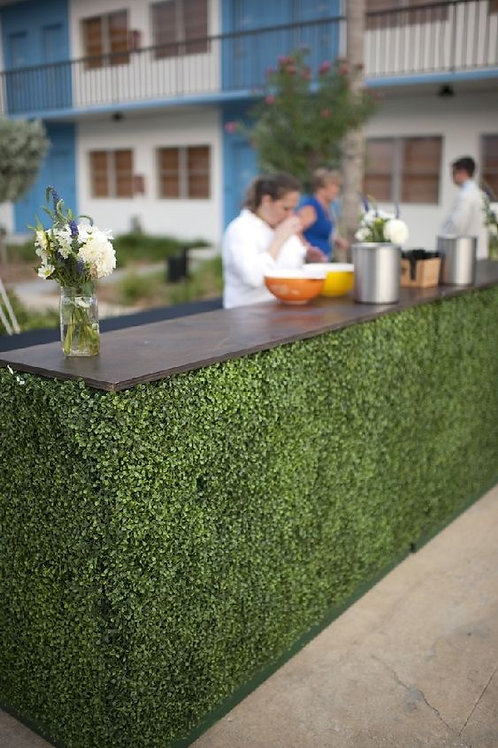 Faux Boxwood Bar