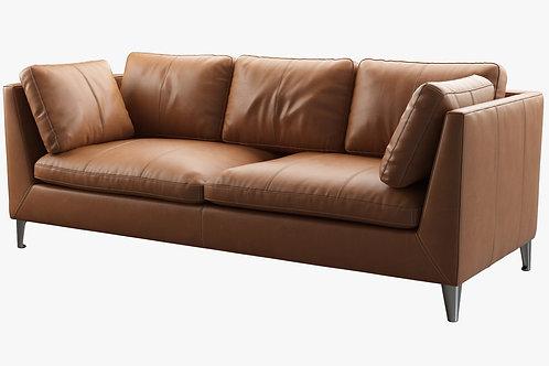 Leather Mid Century Modern Sofa
