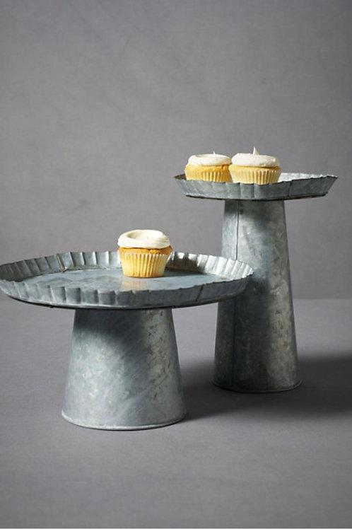 Small Galvanized Metal Cake Stand