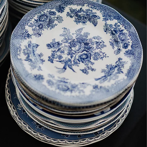 """Mismatched Blue And White China-6"""""""