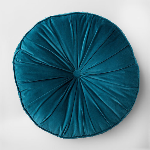 Teal Velvet Floor Pillow