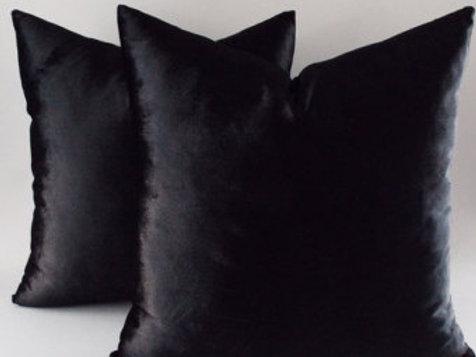 Black Velvet Down Pillows