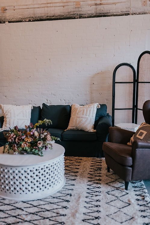 Graphite Linen Slipcovered Sofa