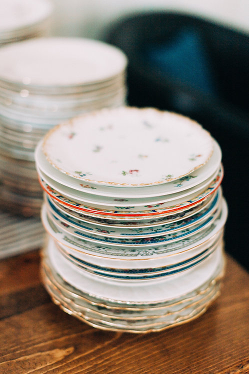 Assorted Vintage China Plates-6""