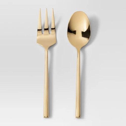 Brushed Gold Serving Fork
