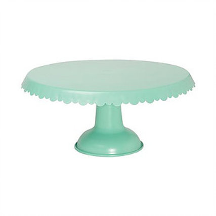 Mint Green Metal Cake Stand