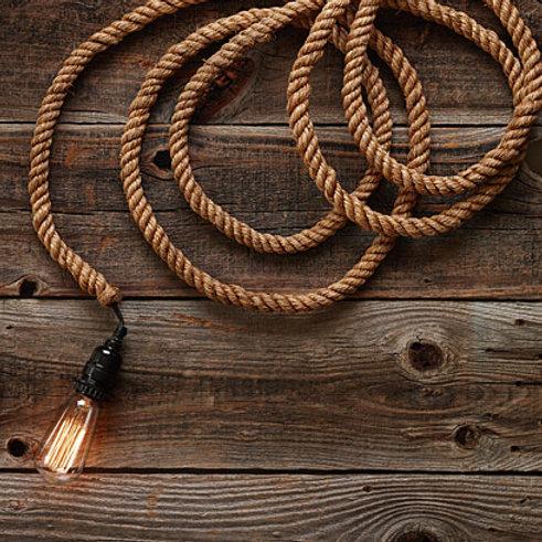Jute Rope Pendant Light