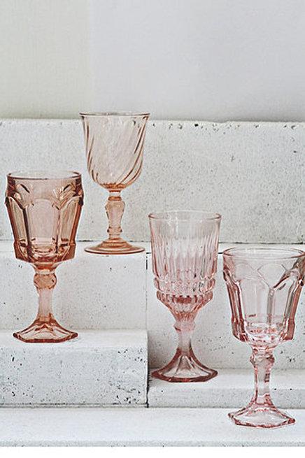 Vintage Pink Goblets