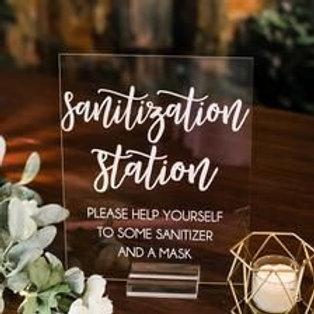 Sanitation Station Sign