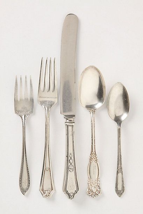 Vintage Silverplate + Stainless Mixed Flatware