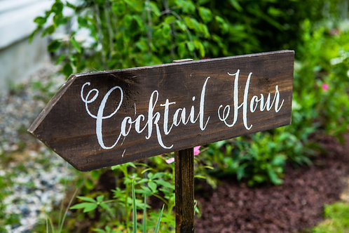 Directional Stake Sign-Cocktail Hour