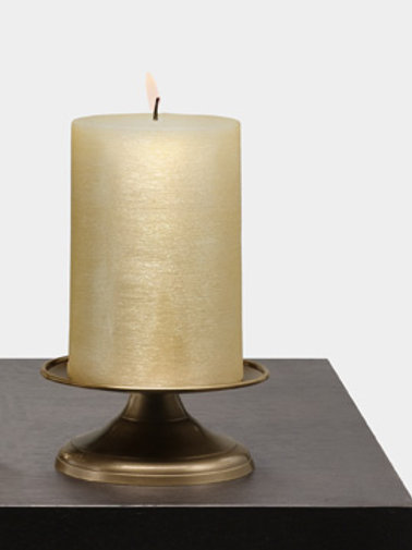 Gold Metal Pillar Stand