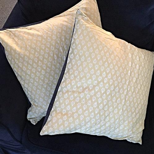 Yellow India Print Down Pillow