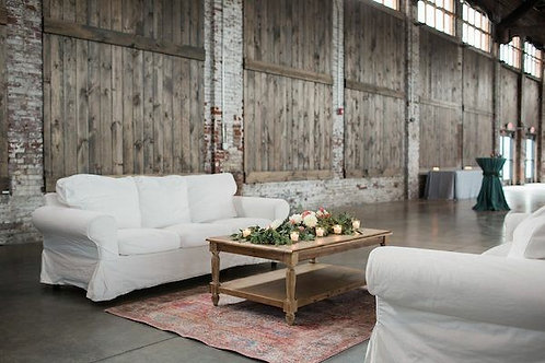 White Slipcoverd Sofa