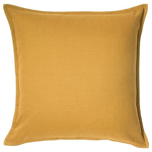 Golden Yellow Linen Pillow
