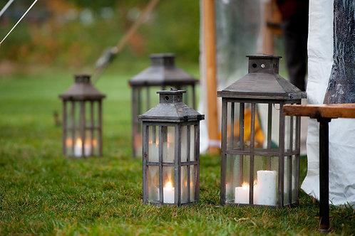 Reclaimed Wood Lantern-Medium
