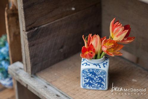 Medium Blue & White Vases