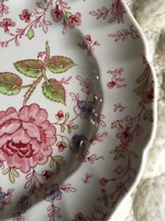 "Rose Floral Chintz China Plates-10"""