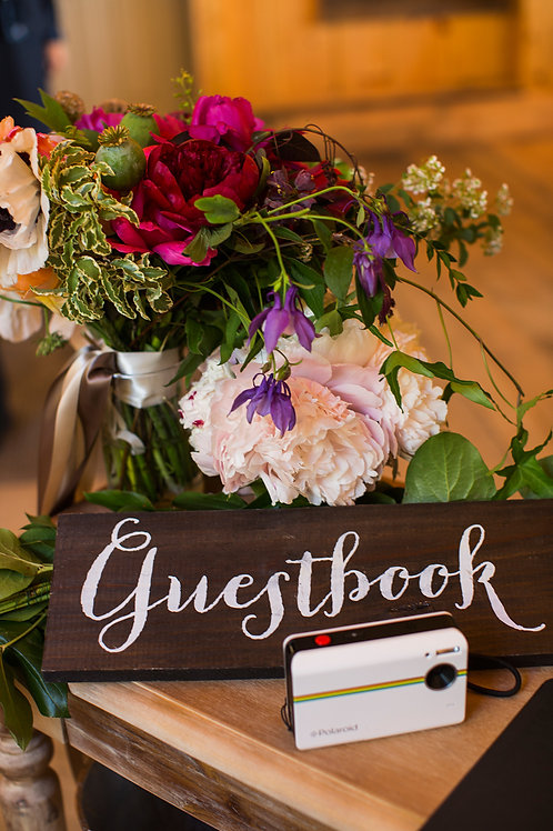 Table Top Sign - Guestbook
