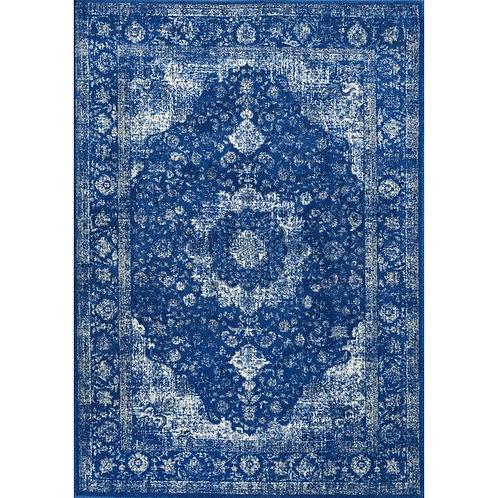 Dark Blue Wool Rug