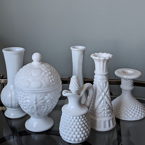 Small Milk Glass Pieces