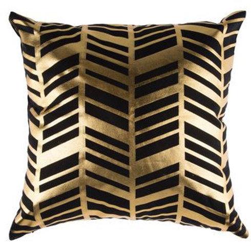Black & Gold Chevron Pillows