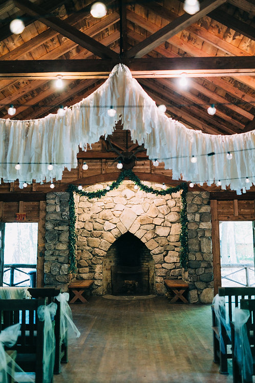 White/Ivory Textured And Torn Garland