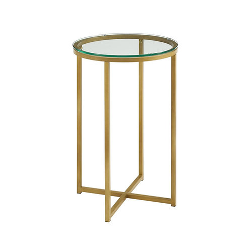 Gold Base Side Table