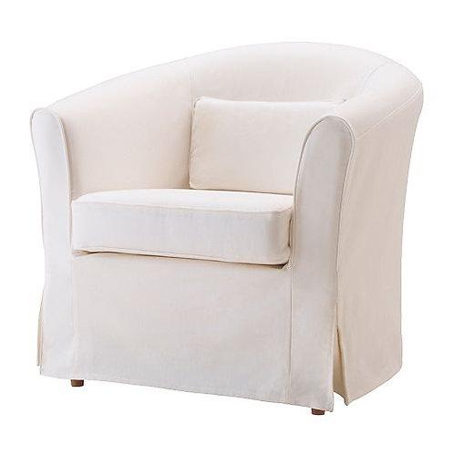 White Slipcover Club Chairs