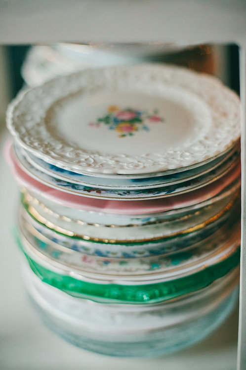 """Assorted Vintage China Plates-7""""-8"""""""