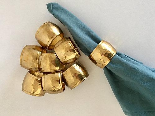 Hammered Metal Napkin Ring