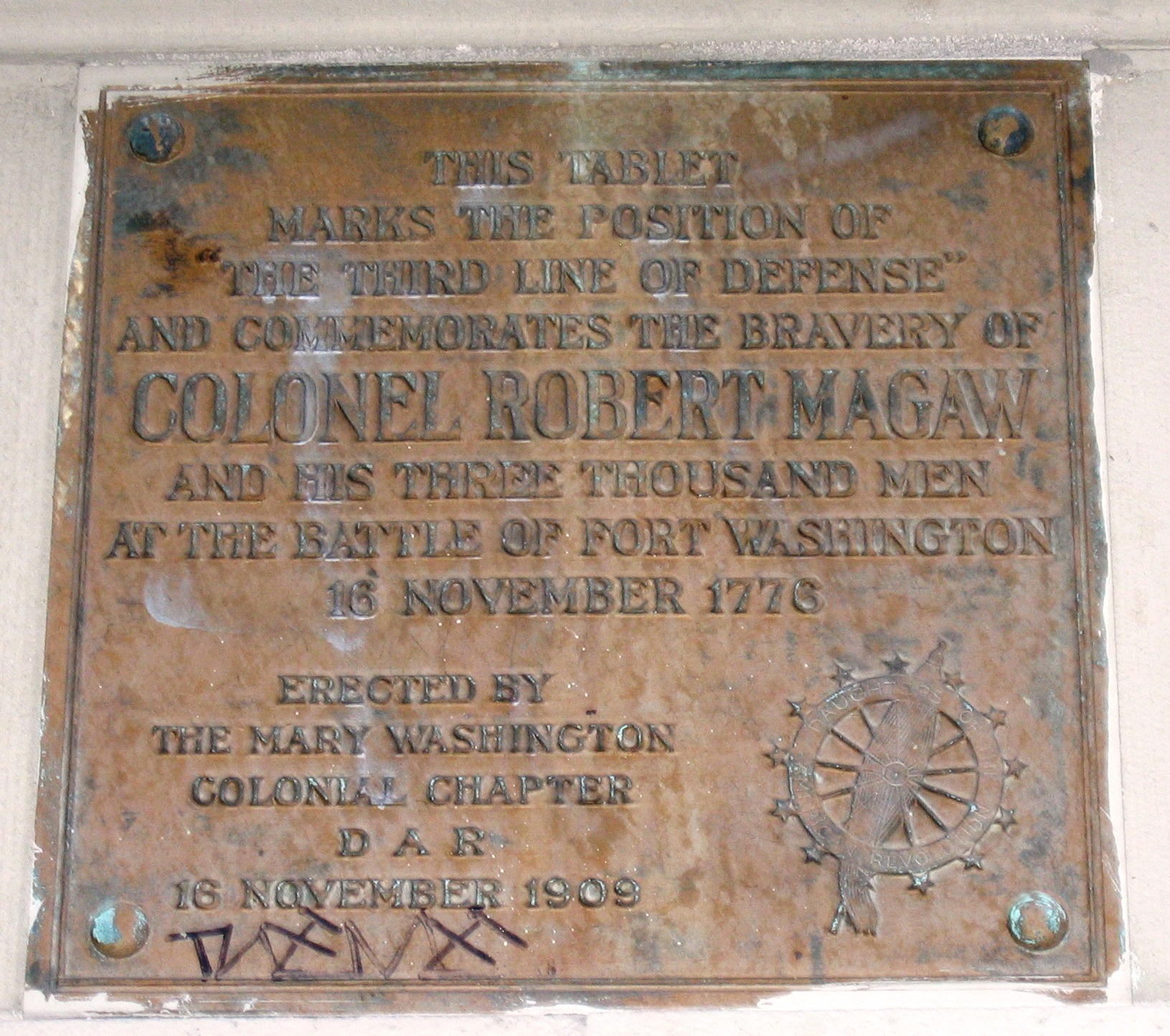 COL Robert Magaw, 11-16-1909