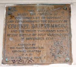 COL Robert Magaw, 11-16-1909