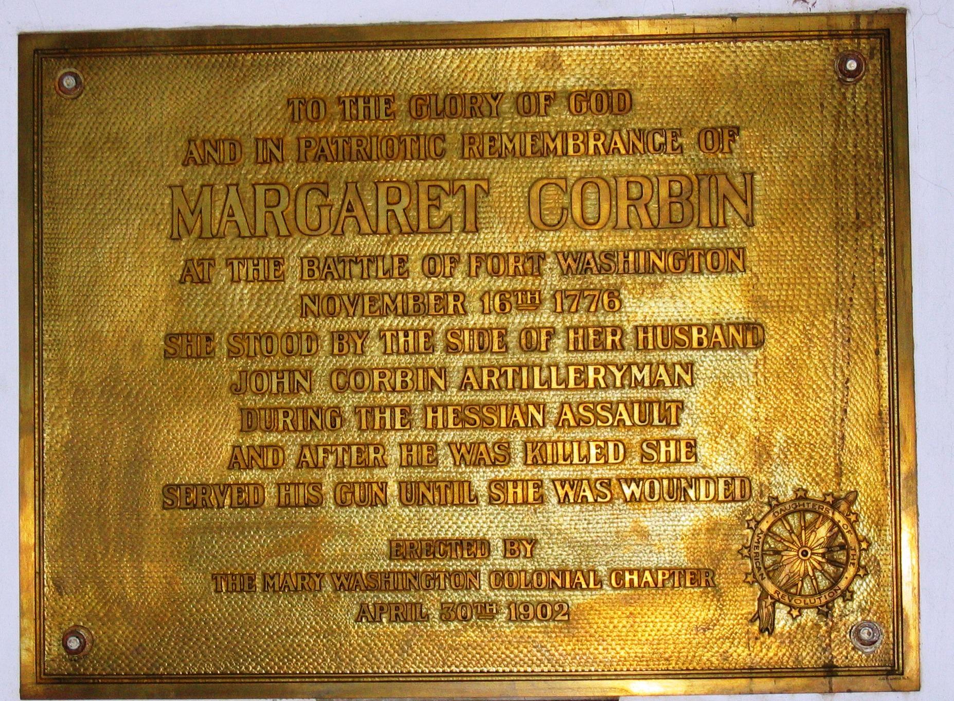 Margaret Corbin, 4-30-1902