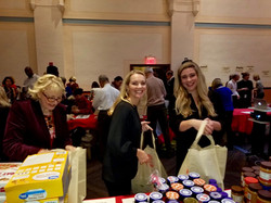 Packing bags for needy NYers