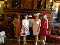 Events Committee in pretty chapeaux!